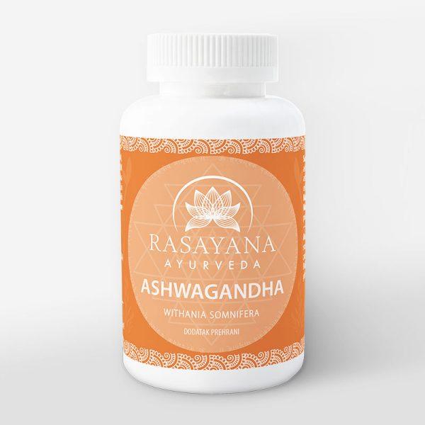 Ašvaganda Ashwagandha kapsule Ashwagandha prah Withania somnifera Ekstrakt svježeg korjena Suplement Dodatak prehrani Rasayana Ayurveda Proizvod