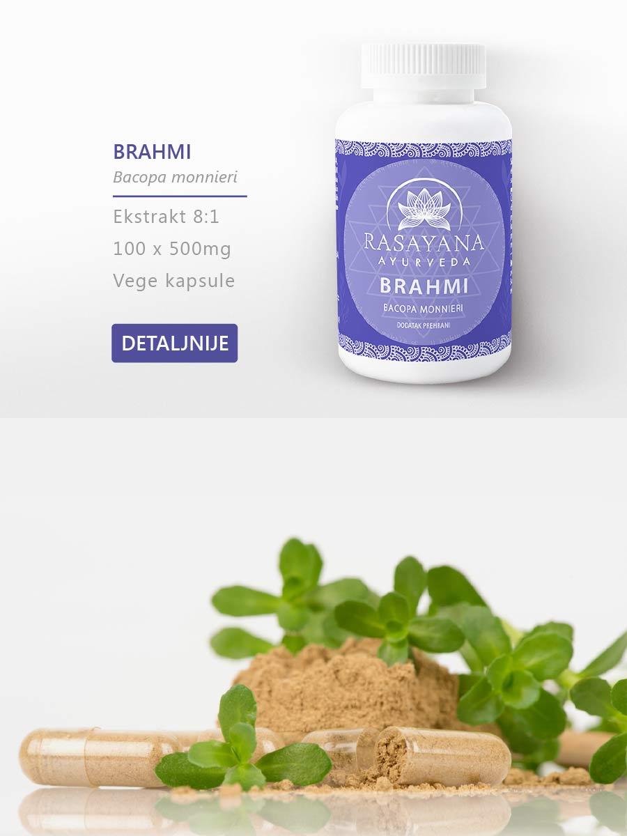 Shop Kupi proizvod Brahmi Bacopa monnieri Ekstrakt svježe biljke Suplement Dodatak prehrani Rasayana Ayurveda