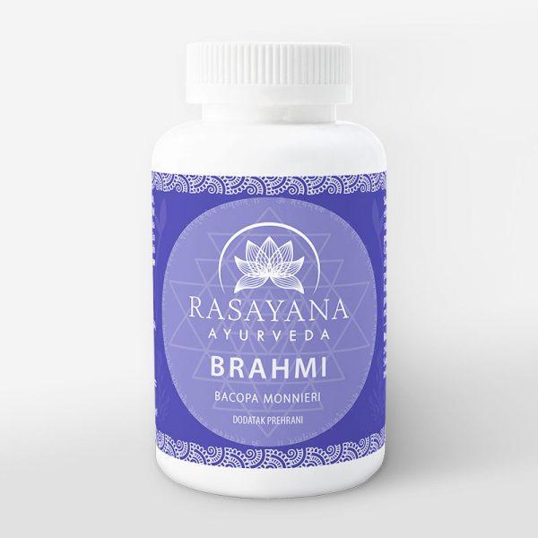 Brahmi kapsule prah ekstrakt svježe biljke Bacopa monnieri Suplement Dodatak prehrani Rasayana Ayurveda Proizvod