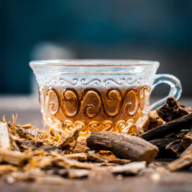 Sladić kapsule Yashtimadhu Slatki korijen čaj Glycyrrhiza glabara