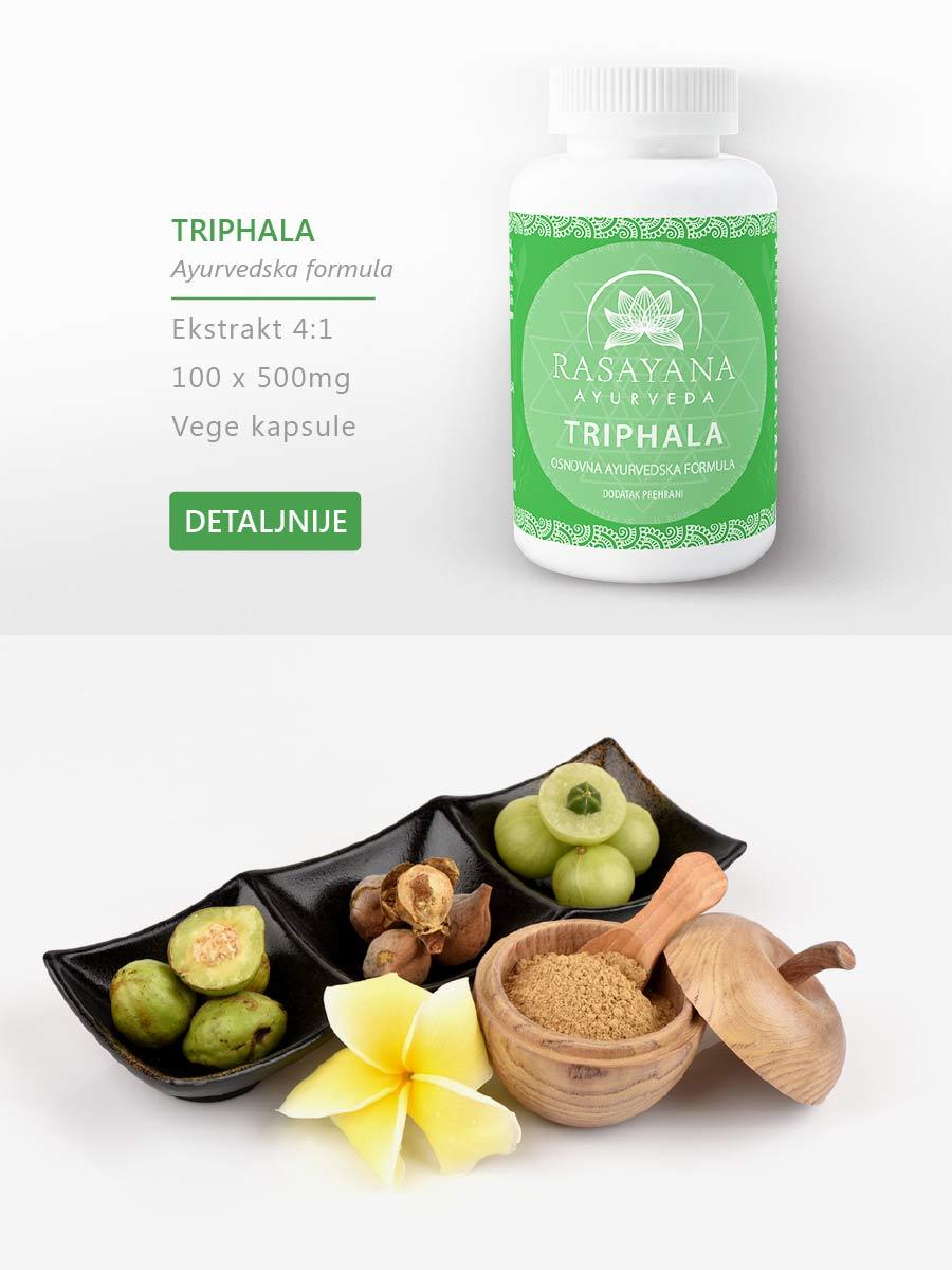 Shop Kupi proizvod Triphala Ayurvedska formula Amalaki Bibhitaki Haritaki Suplement Dodatak prehrani Rasayana Ayurveda