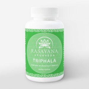 Triphala kapsule Ayurvedska formula Amalaki Bibhitaki Haritaki Suplement Dodatak prehrani Rasayana Ayurveda Proizvod