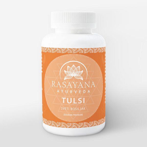 Tulsi Sveti bosiljak Ocimum sanctum Ekstrakt svježe biljke Suplement Dodatak prehrani Rasayana ayurveda Proizvod