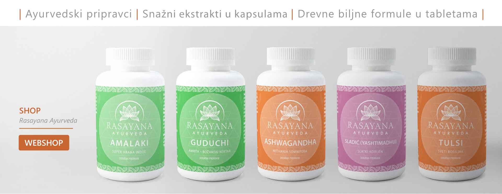 Ayurvedski pripravci rasayana, Dodaci prehrani koji pospješuju imunitet, biljke za imunitet, tablete za imunitet